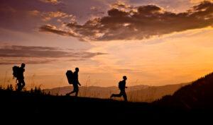 Wandergruppe in den Bergen