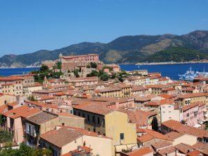 Dächer von Portoferraio, Elba, Italien
